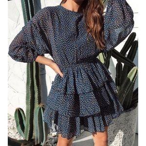 Dolman Sleeve Tier Skirt Dress